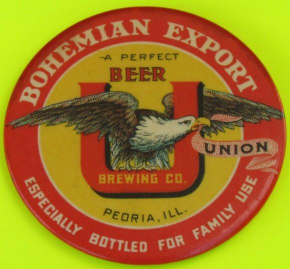 Bohemian Export Pocket Mirror | Peoria, Illinois