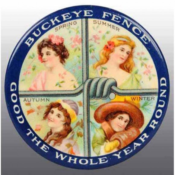 Buckeye Fence Pocket Mirror