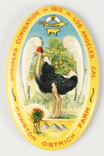 Cawston Ostrich Pocket Mirror | Los Angeles, California
