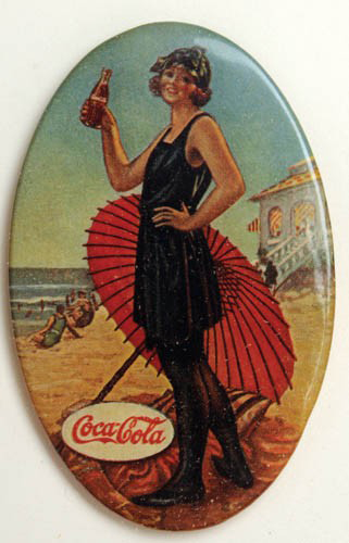 Coca-Cola Beach Babe Pocket Mirror