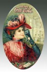 Coca-Cola Lady in Red Pocket Mirror
