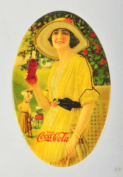 Coca-Cola Lady in Yellow Pocket Mirror