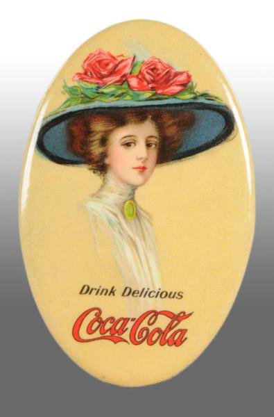 Coca-Cola Flower Hat Pocket Mirror
