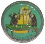 Pool Playing Monkeys Pocket Mirror