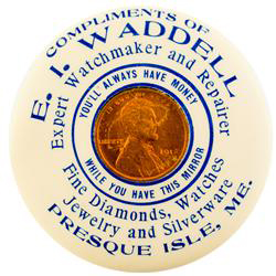 E.I. Waddell Pocket Mirror | Presque Isle, Maine