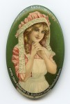 Empire Cream Pocket Mirror | Bloomfield, New Jersey
