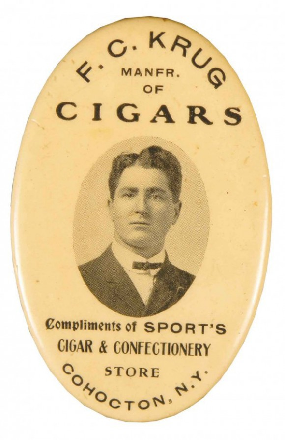 F.C. Krug  Cigars Pocket Mirror | Cohocton, New York