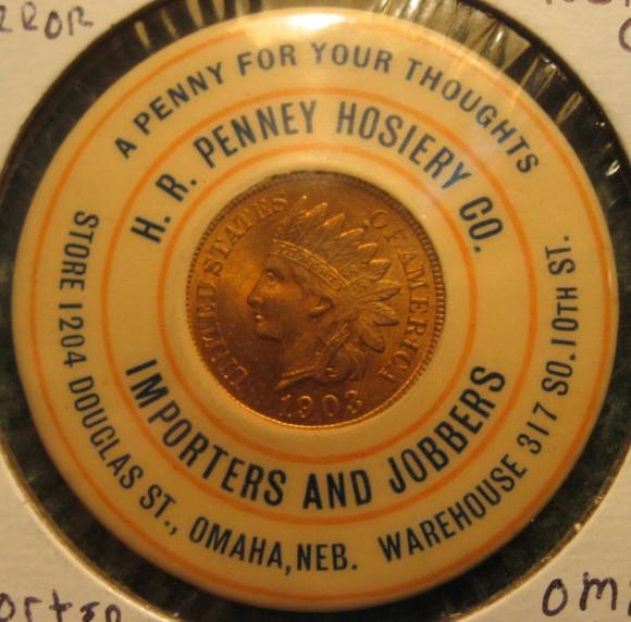 H.R. Penney Pocket Mirror | Omaha, Nebraska