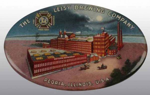 Leisy Brewing Pocket Mirror | Peoria, Illinois