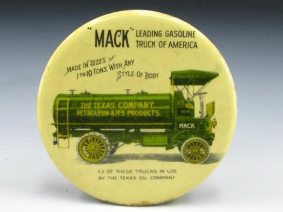 Mack Gasoline Pocket Mirror