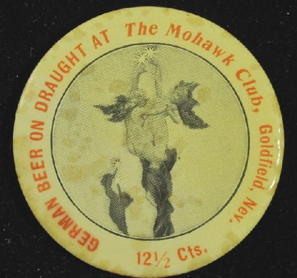 Mohawk Club Pocket Mirror | Goldfield, Nevada
