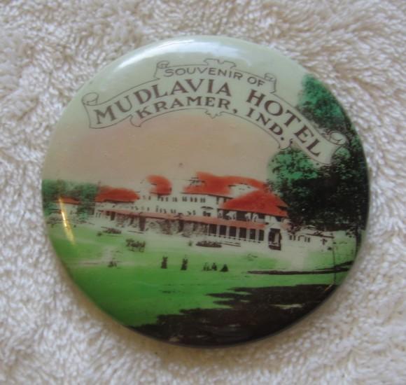Mudlavia Hotel Pocket Mirror | Kramer, Indiana