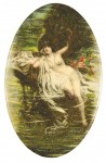 Nude In A Stream Pocket Mirror