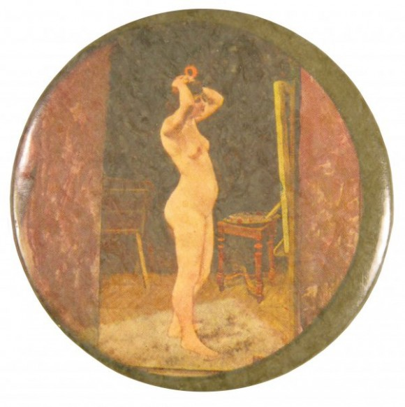 Nude With A Mirror Pocket Mirror