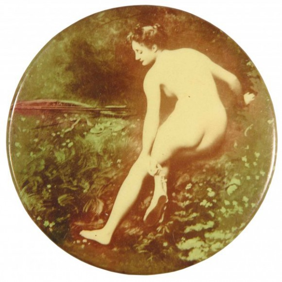 Nude In The Woods Pocket Mirror
