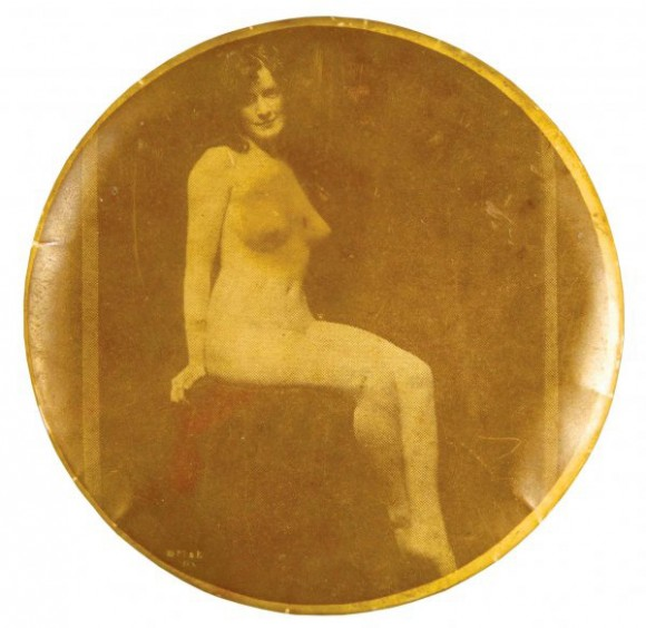 Nude Sitting Pocket Mirror