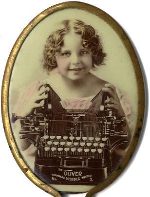 Oliver Typewriter Pocket Mirror