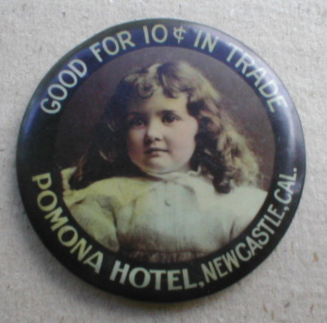 Pomona Hotel Pocket Mirror | Newcastle, California
