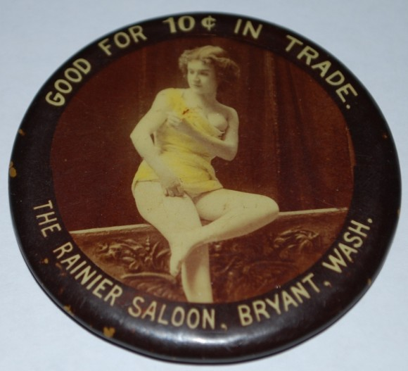 Rainier Saloon Pocket Mirror | Bryant, Washington