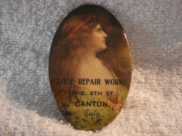 Shoe Repair Pocket Mirror | Canton, Ohio