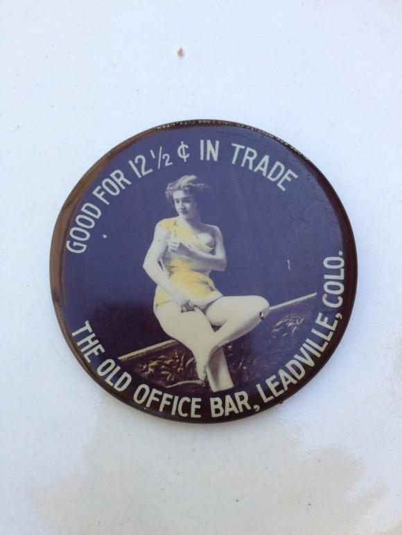 Old Office Bar Pocket Mirror | Leadville, Colorado