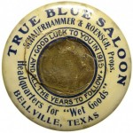 True Blue Saloon Pocket Mirror | Bellville, Texas