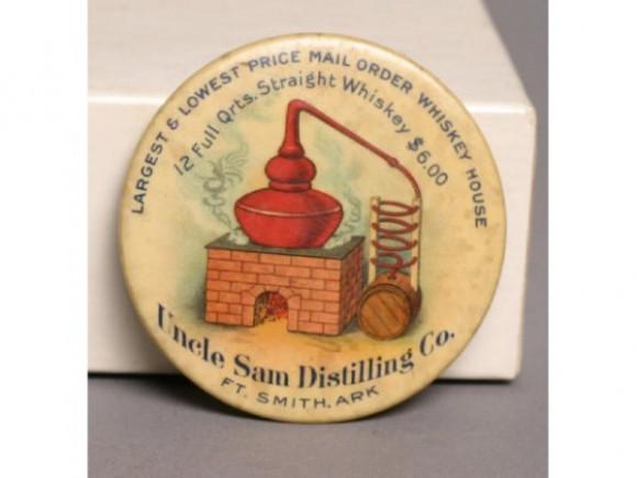 Uncle Sam Distilling Pocket Mirror | Ft. Smith, Arkansas