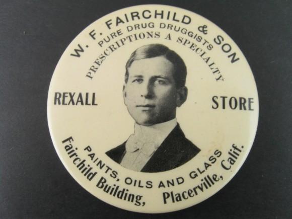 W.F. Fairchild Pocket Mirror | Placerville, California
